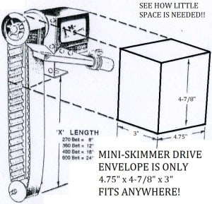 Cogged Belt Mini Skimmer Diagram