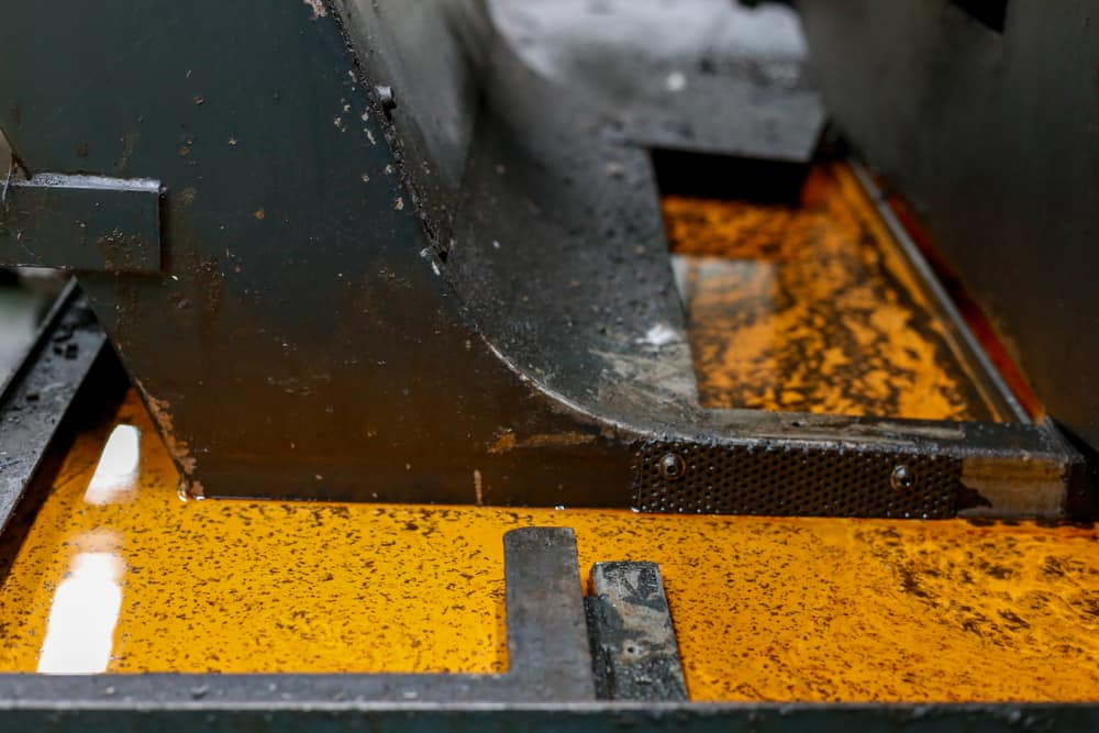 Image of dirty CNC tramp oil